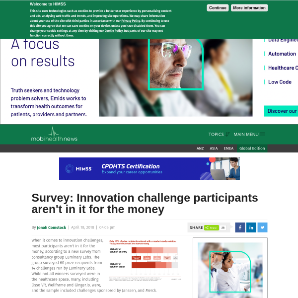 Survey: Innovation challenge participants aren't in it for the money