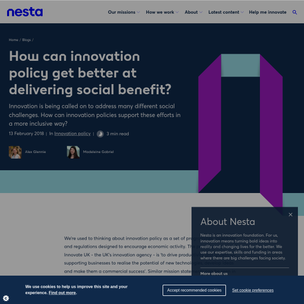 How can innovation policy get better at delivering social benefit?
