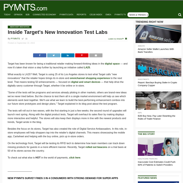 Target Test Innovation Digital Initiative LA25 - PYMNTS.com