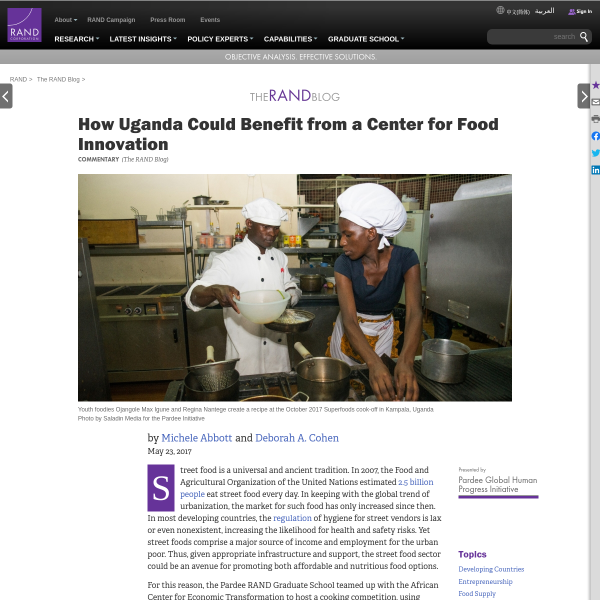 How Uganda Could Benefit from a Center for Food Innovation