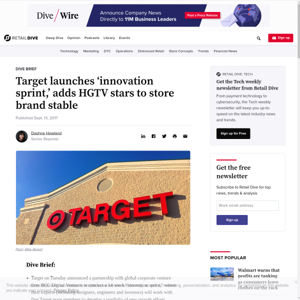 Target launches 'innovation sprint,' adds HGTV stars to store brand stable