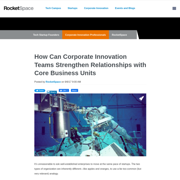 How Can Corporate Innovation Teams Strengthen Relationships with Core Business Units