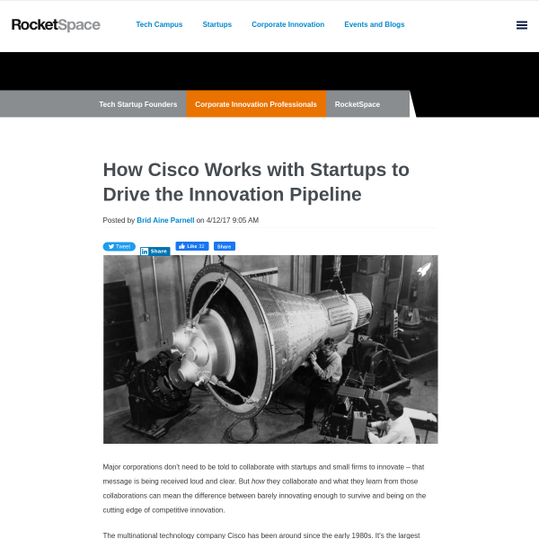 How Cisco Works with Startups to Drive the Innovation Pipeline