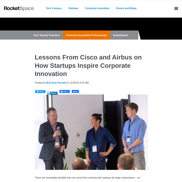 Lessons From Cisco and Airbus on How Startups Inspire Corporate Innovation