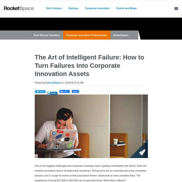 The Art of Intelligent Failure: How to Turn Failures Into Corporate Innovation Assets