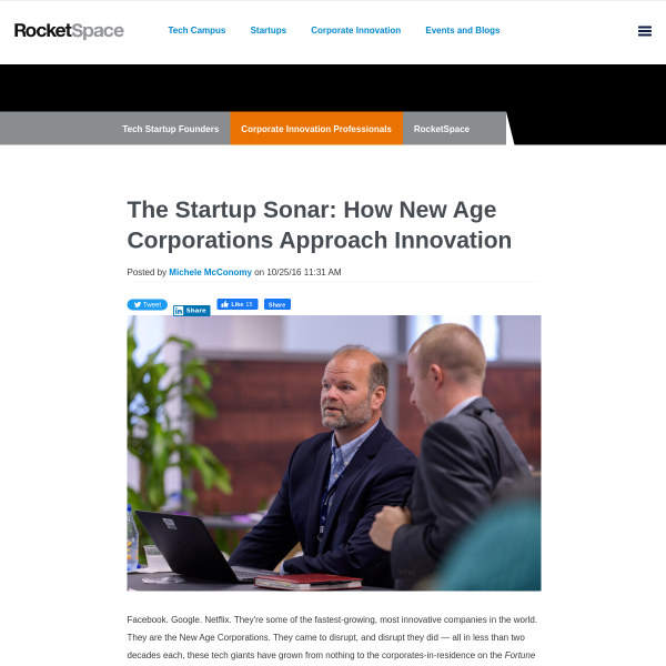 The Startup Sonar: How New Age Corporations Approach Innovation
