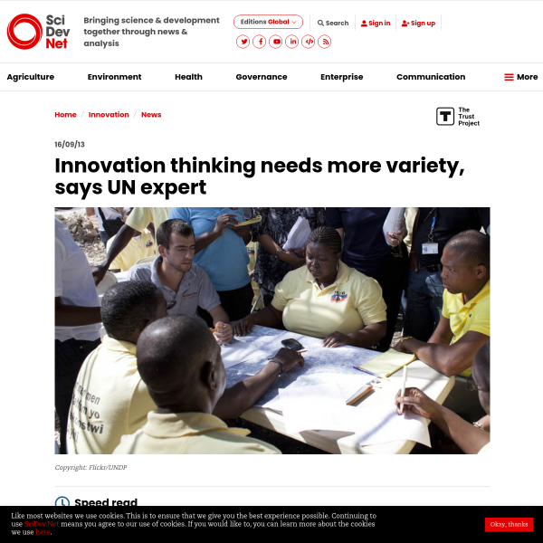 Innovation thinking needs more variety, says UN expert