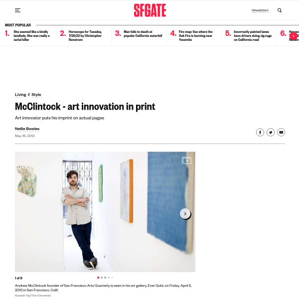 McClintock - art innovation in print