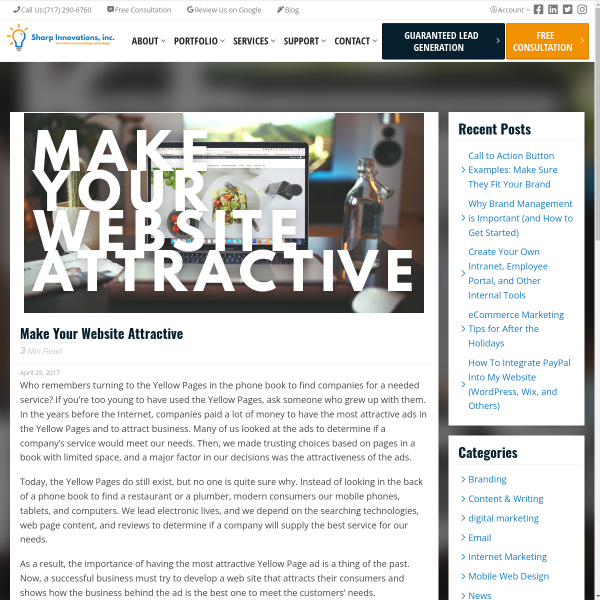 Make Your Website Attractive - Sharp Innovations Blog