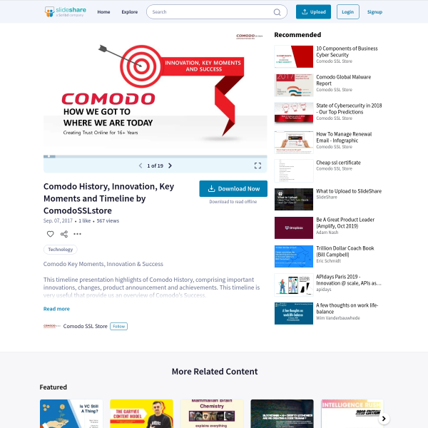Comodo History, Innovation, Key Moments and Timeline by ComodoSSLstore
