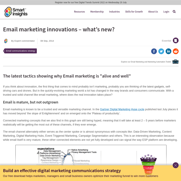 Email marketing innovations - what's new? - Smart Insights