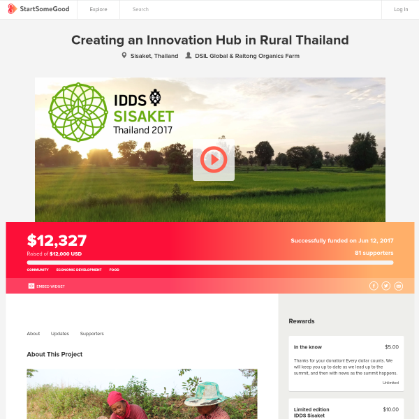 Creating an Innovation Hub in Rural Thailand - StartSomeGood
