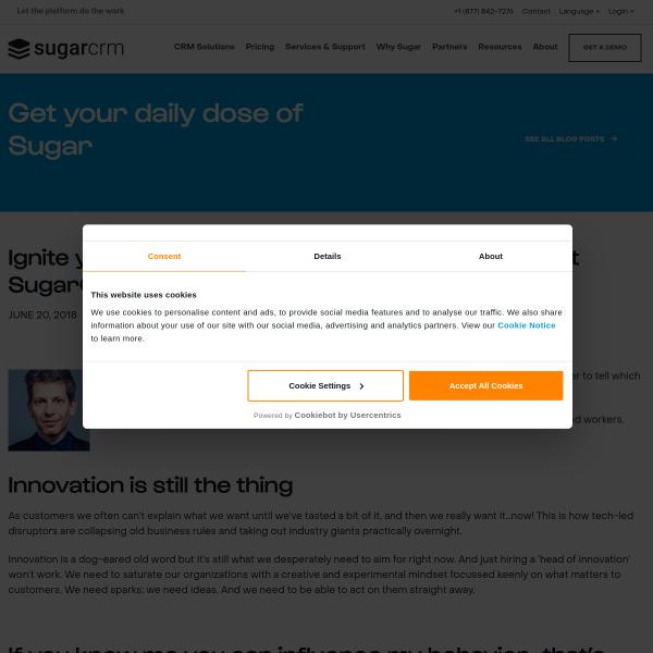 Ignite your innovation mindset with David Rowan at SugarCon 2018 - SugarCRM Blog
