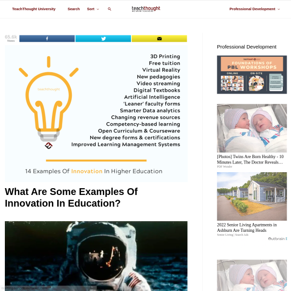 Examples Of Innovation In Higher Ed--With A Caution