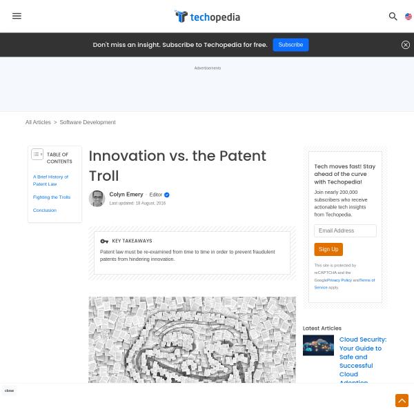Innovation vs. the Patent Troll