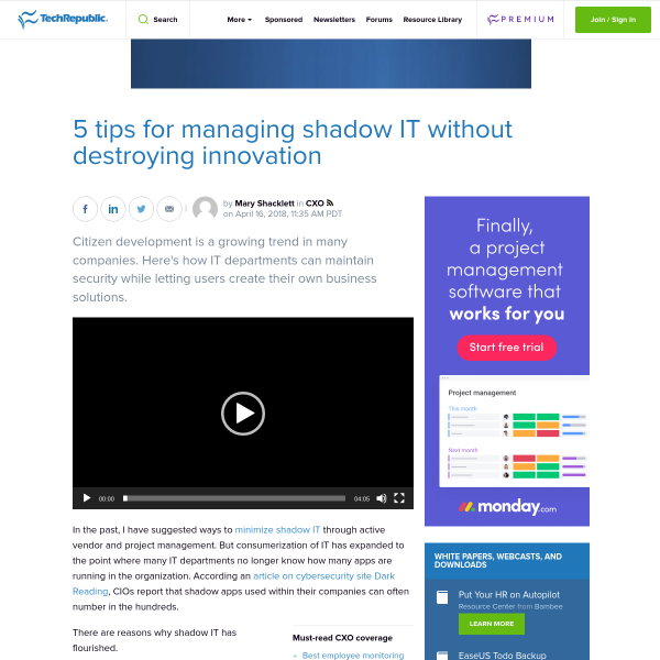 5 tips for managing shadow IT without destroying innovation