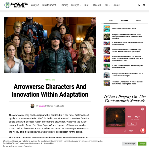 Arrowverse Characters and Innovation within Adaptation