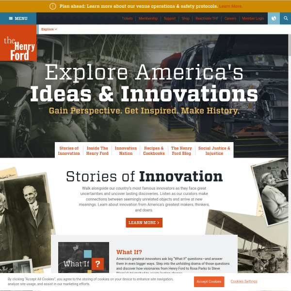 Explore the History of American Innovation - The Henry Ford