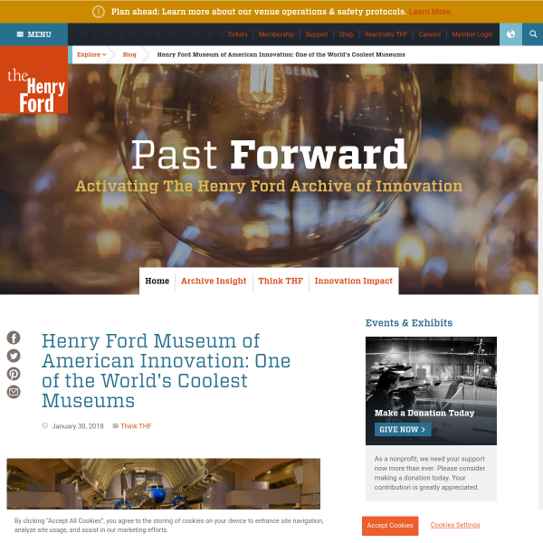 Henry Ford Museum of American Innovation: One of the World's Coolest Museums - Blog - The Henry Ford