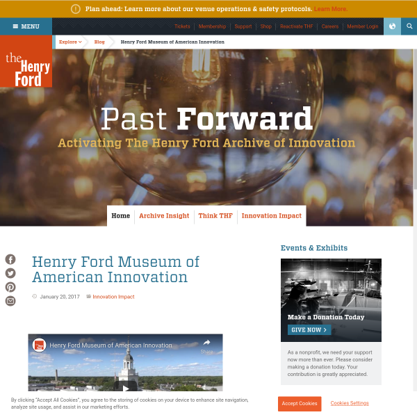 Henry Ford Museum of American Innovation - Blog - The Henry Ford