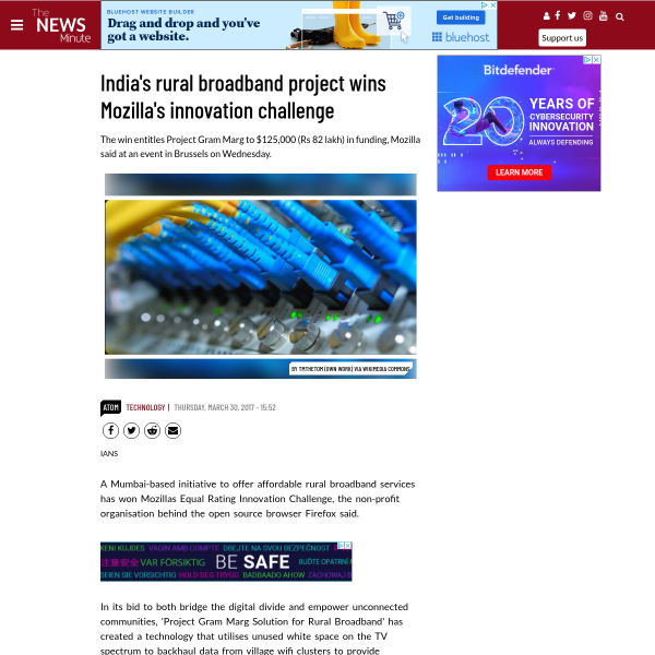 India's rural broadband project wins Mozilla's innovation challenge