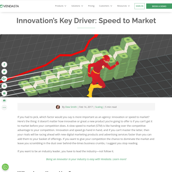Innovation's Key Driver: Speed to Market - Vendasta Blog