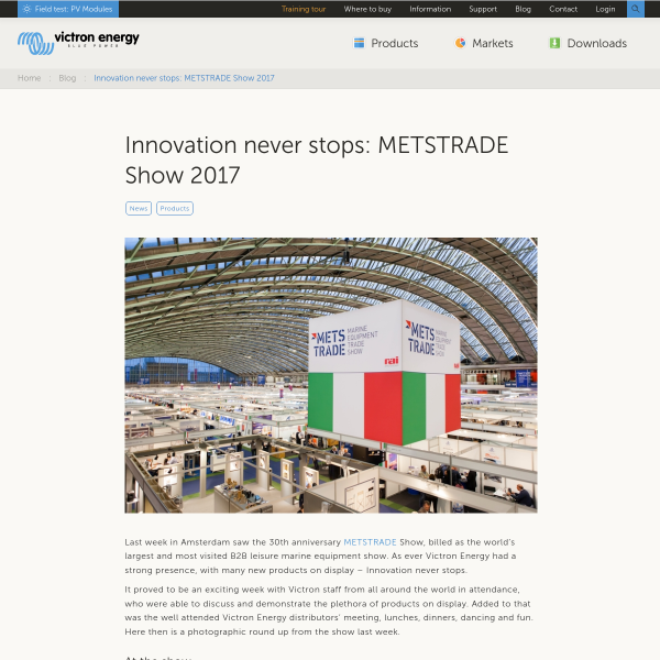 Innovation never stops: METSTRADE Show 2017 - Victron Energy