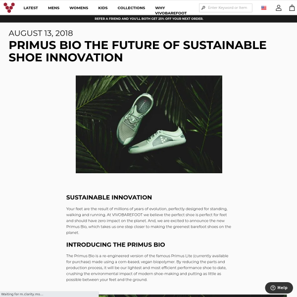Primus Bio The future of sustainable shoe innovation - August 2018 - Blog