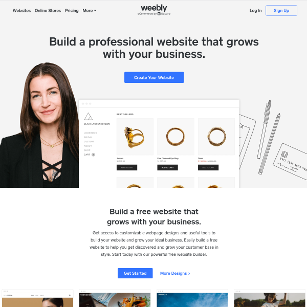 Free Website Builder: Build a Free Website or Online Store | Weebly 		 screenshot