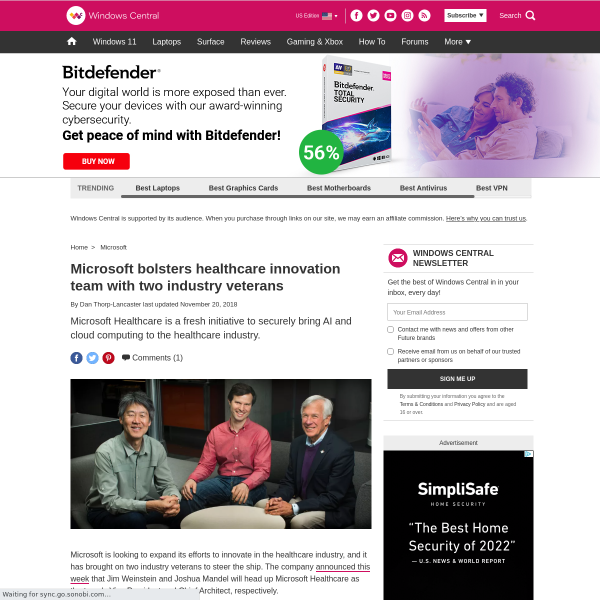 Microsoft bolsters healthcare innovation team with two industry veterans