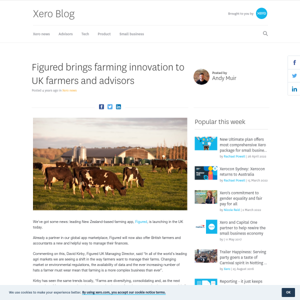 Figured brings farming innovation to UK farmers and advisors - Xero Blog