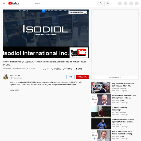 Isodiol International (ISOL) (ISOLF) - Major International Expansion and Innovation - RICH TV LIVE