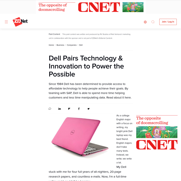 Dell Pairs Technology & Innovation to Power the Possible - ZDNet
