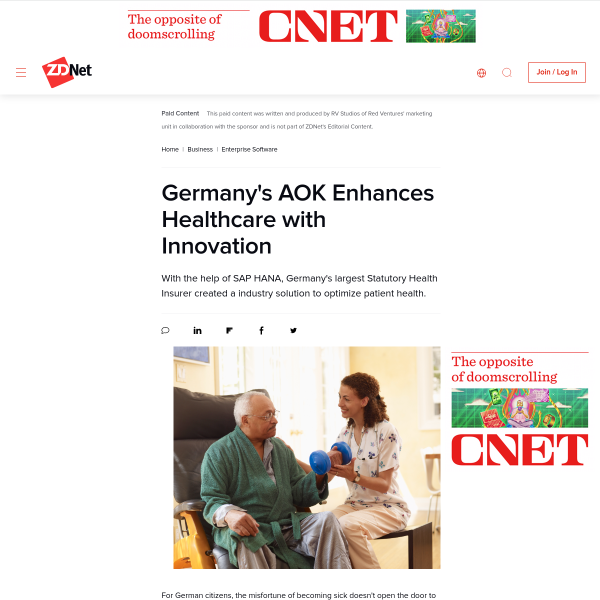 Germany's AOK Enhances Healthcare with Innovation - ZDNet