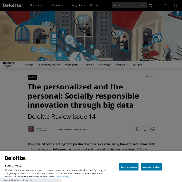 The personalized and the personal: Socially responsible innovation through big data
