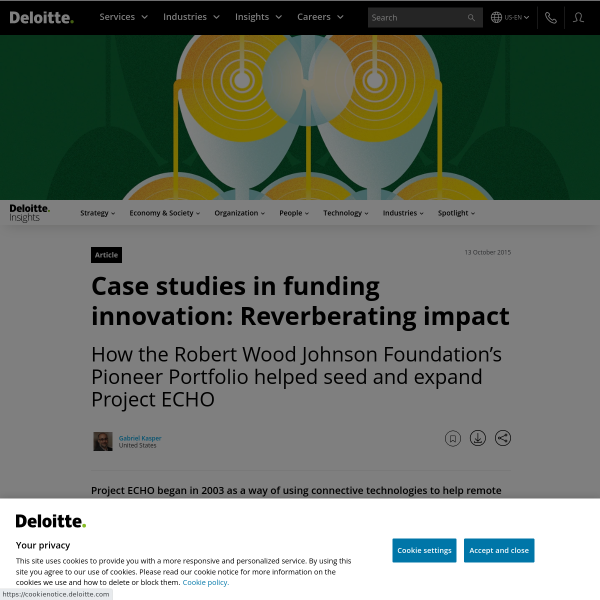 Case studies in funding innovation: Reverberating impact