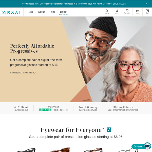 Glasses – Glasses Online – Prescription Glasses | Zenni Optical screenshot