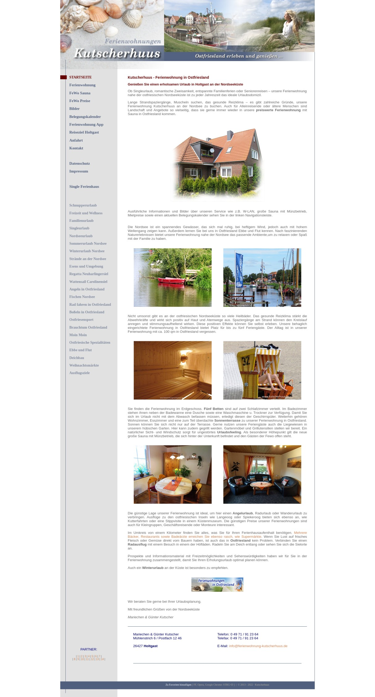 Ferienwohnung mit Gartensauna in Holtgast