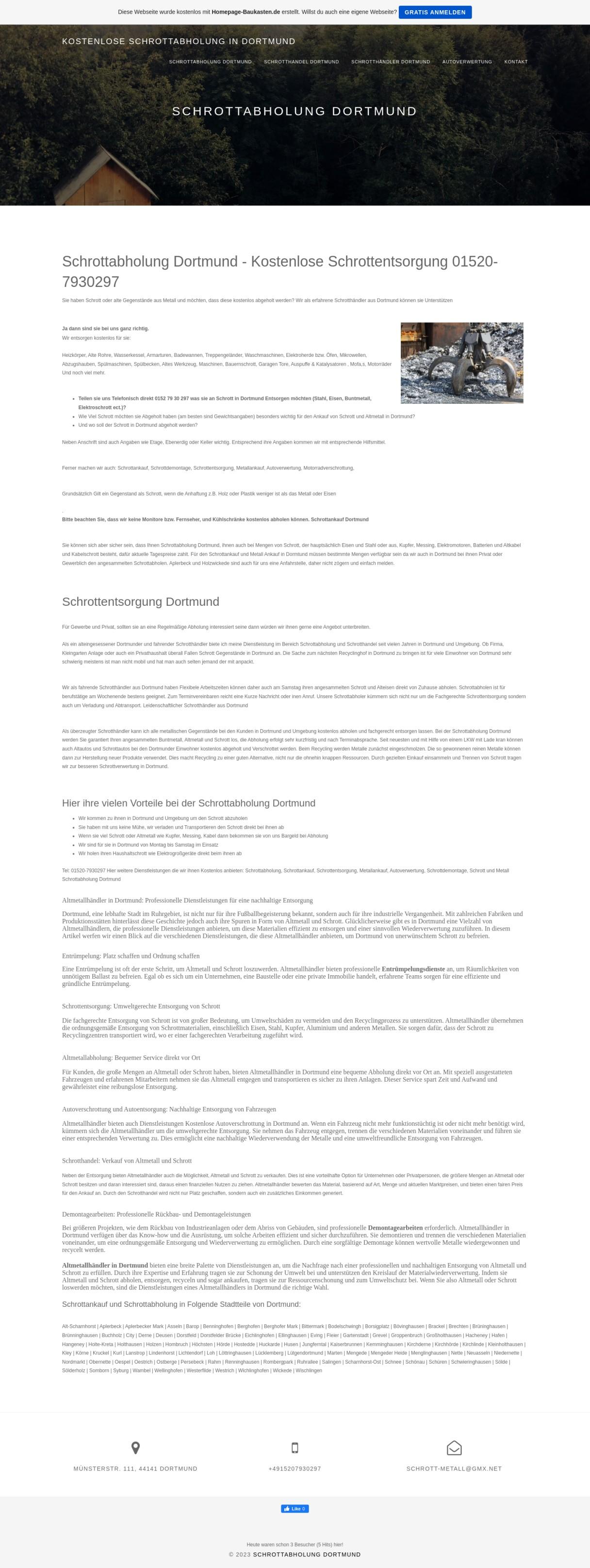 Schrott und Metall Schrottabholung Dortmund - Schrottabholung Dortmund