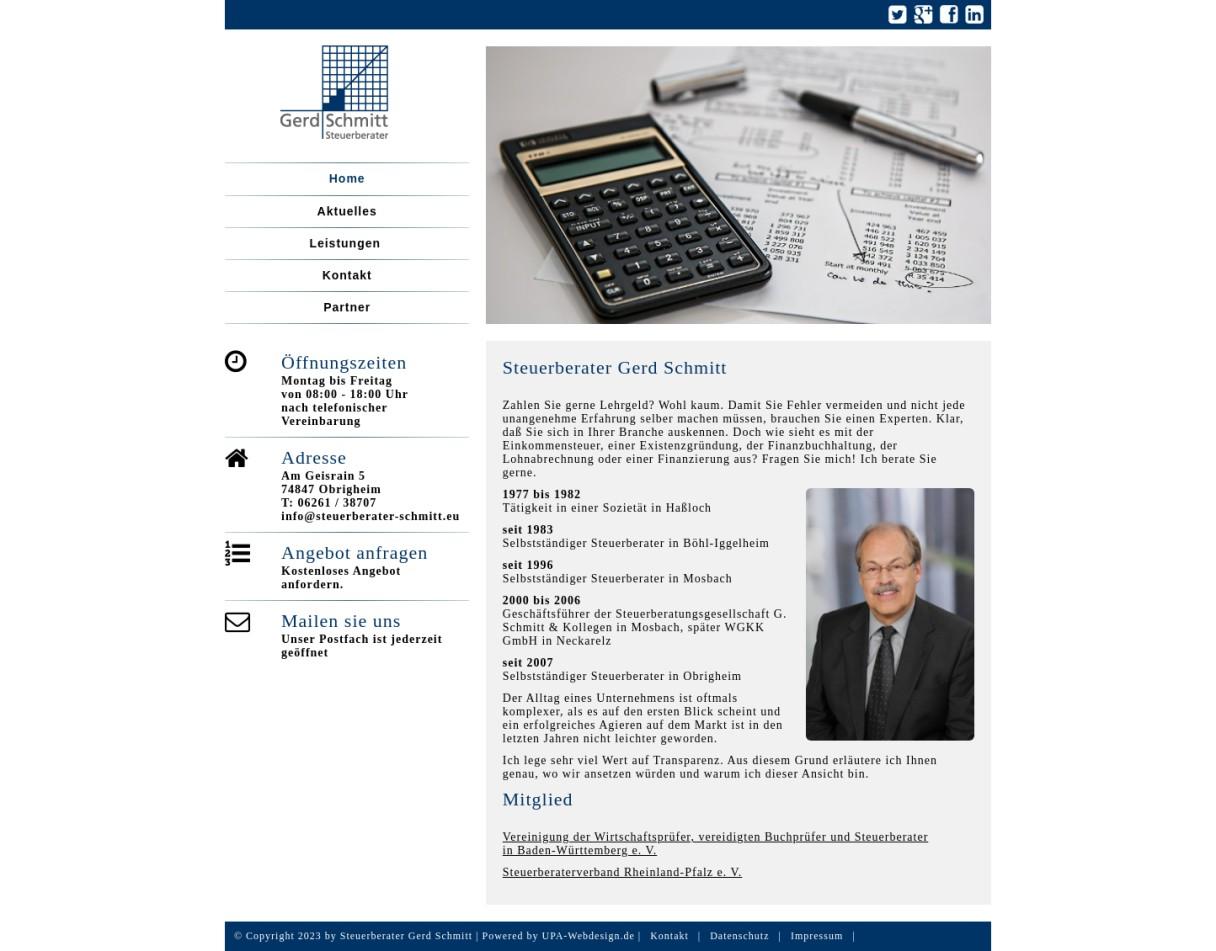 Steuerberater Gerd Schmitt