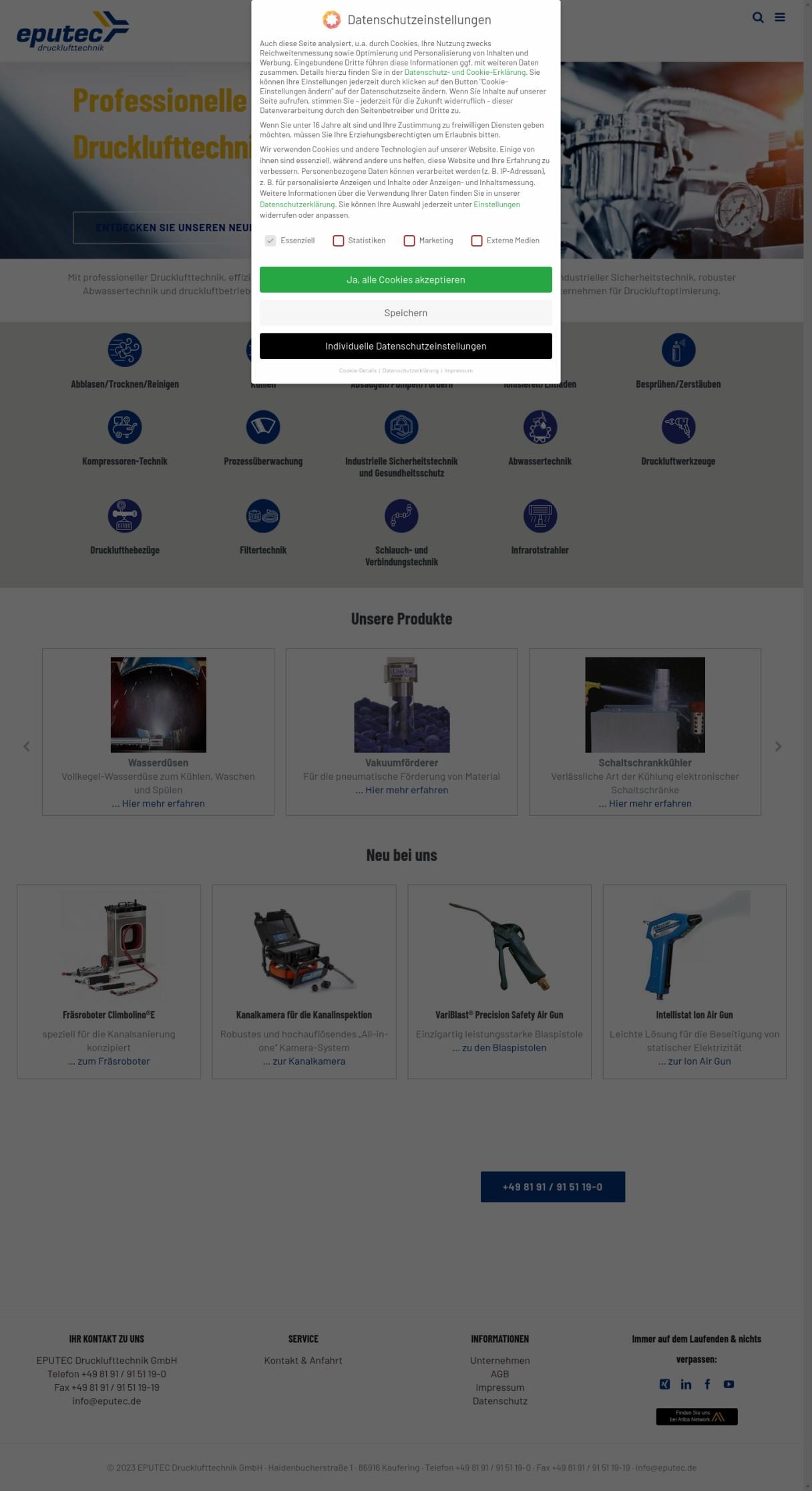 Drucklufttechnik von EPUTEC