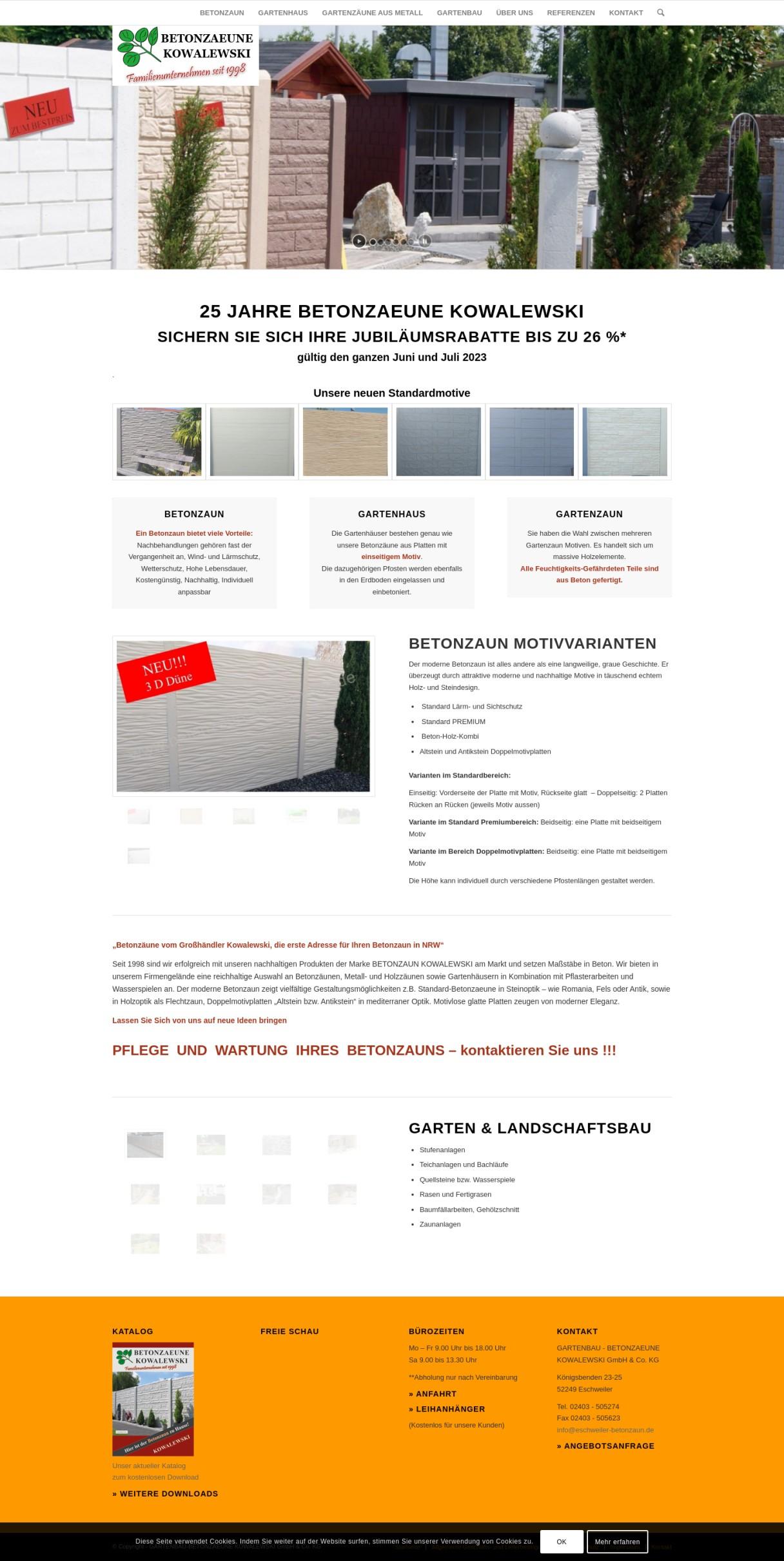 GARTENBAU-BETONZAEUNE KOWALEWSKI GmbH & Co. KG