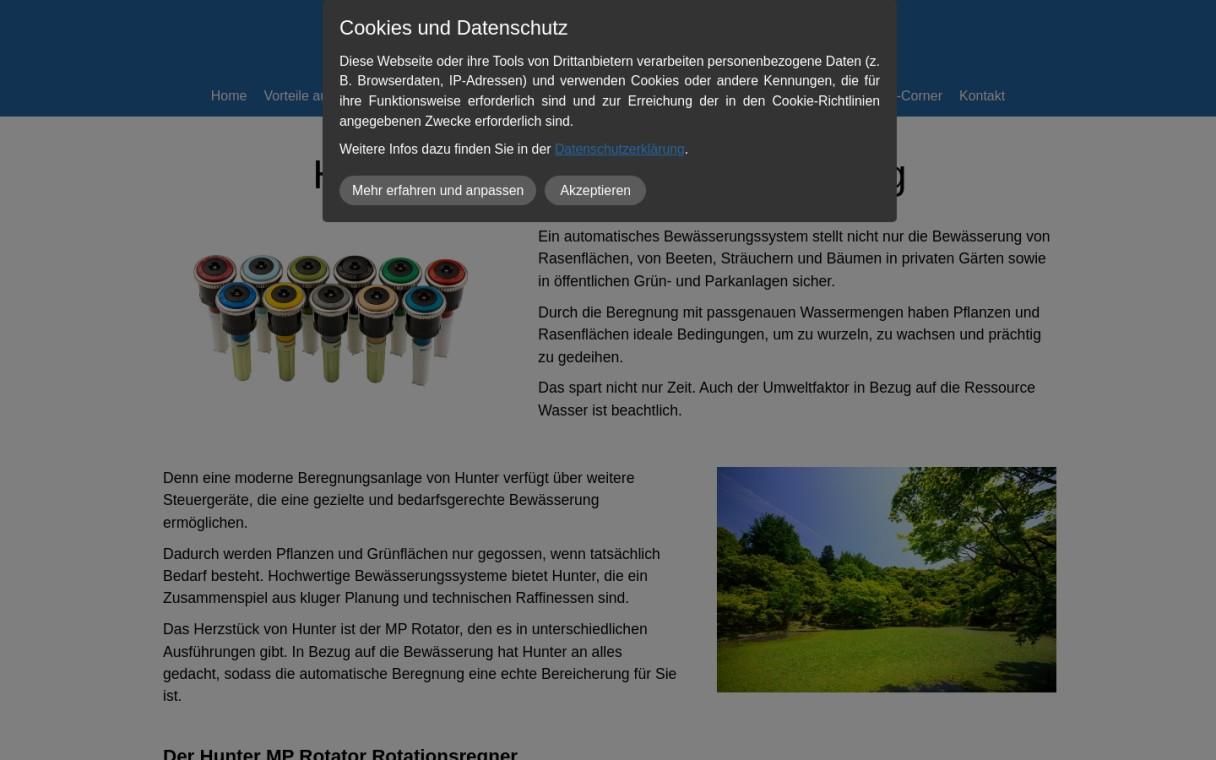 Hunter MP Rotator Düsen für die Gartenbewässerung
