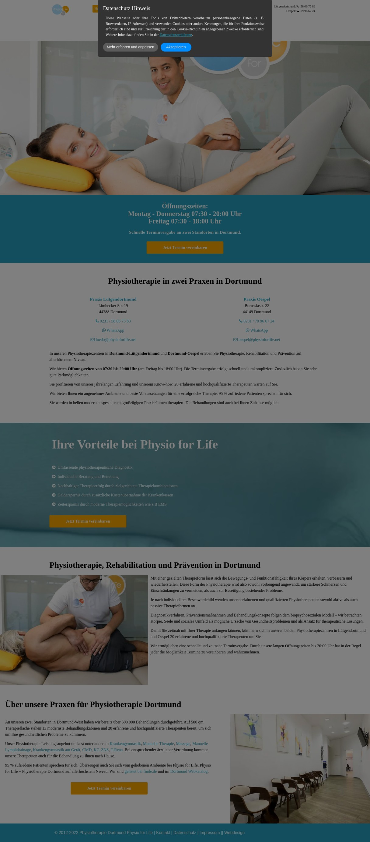 Physiotherapie in Dortmund Physio for Life