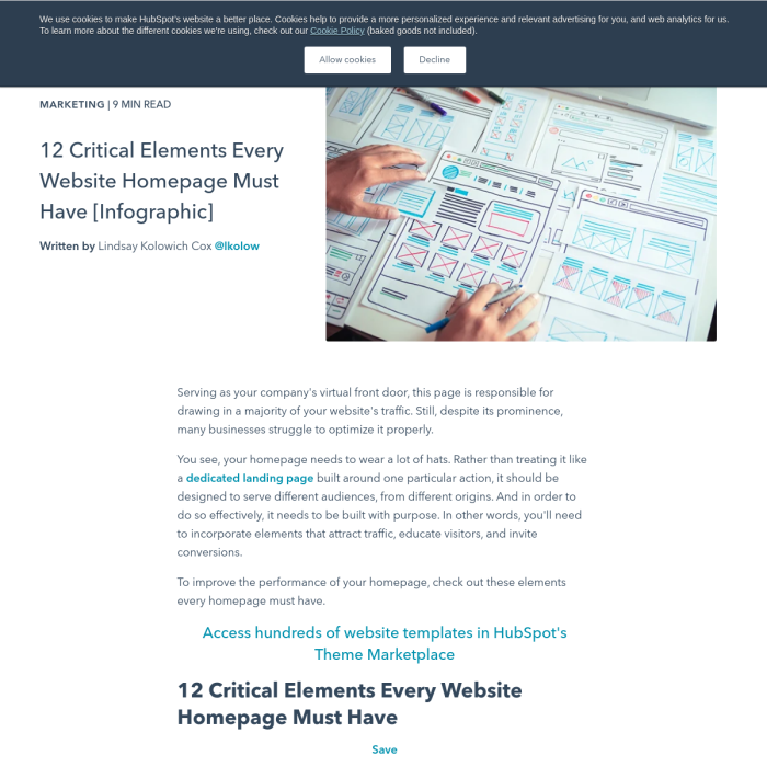 Preview of http://blog.hubspot.com/blog/tabid/6307/bid/31097/12-Critical-Elements-Every-Homepage-Must-Have-Infographic.aspx