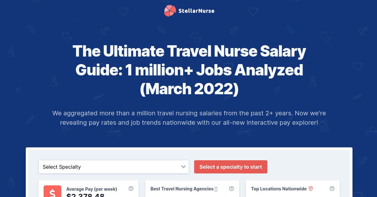 Ultimate Travel Nurse Salary Guide: 1,061,319 Jobs Analyzed, Aug 2020