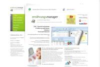 Vorschaubild der Homepage von Ernährungsmanager (Ernährungssoftware)