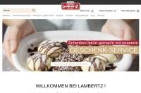 Vorschaubild der Homepage von Unternehmensgruppe Lambertz