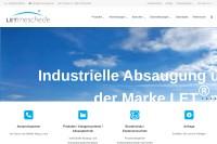 Vorschaubild der Homepage von LET®meschede - Absauganlagen, Entstaubungsanlagen