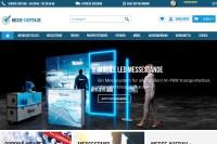 Vorschaubild der Homepage von Displays, Marketingsysteme und Messestände